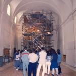 Sala 5 del Museo de Huesca durante el proceso de restauración del retablo. 1997. © Archivo fotográfico Museo de Huesca.