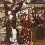 La Anunciación. Rodrigo de Sajonia (antes Maestro de Sijena). Óleo sobre tabla. 1515-1519. NIG.00003. © Foto Fernando Alvira. Museo de Huesca.