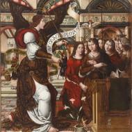 La Anunciación. Maestro de Sigena. Óleo sobre tabla. 1515-1519. NIG.00003. © Foto Fernando Alvira. Museo de Huesca.