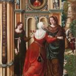 La Visitación. Rodrigo de Sajonia (antes Maestro de Sijena). Óleo sobre tabla. 1515-1519.NIG. 00004. © Foto Fernando Alvira. Museo de Huesca.