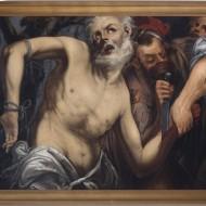 Martirio de San Bartolomé. Anónimo. Óleo sobre lienzo. 1600-1699. NIG. 00100. © Foto Fernando Alvira. Museo de Huesca.