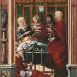 Nacimiento de la Virgen. Maestro de Sigena. Óleo sobre tabla .1515-1519. NIG.00002. © Foto Fernando Alvira. Museo de Huesca.