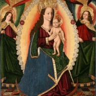 Nuestra Señora del Rosario. Miguel Jiménez. Óleo sobre tabla. 1475-1500. NIG.00005. © Foto Fernando Alvira. Museo de Huesca.