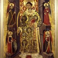 San Vicente Mártir. Bernardo de Arás. Temple sobre tabla. 1455-1470. NIG. 00107. © Foto Fernando Alvira. Museo de Huesca.
