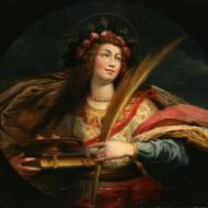 Santa Lucía. Vicente Carducho. Óleo sobre lienzo. 1600-1633. NIG.00016. © Foto Fernando Alvira. Museo de Huesca.