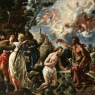 El bautismo de Jesús. Juan de Pareja. Óleo sobre lienzo. 1667. NIG.00080. © Foto Fernando Alvira. Museo de Huesca.