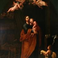 San José con el Niño dormido. Angelo Nardi. Óleo sobre lienzo. s. XVII. NIG. 00081. © Foto Fernando Alvira. Museo de Huesca.