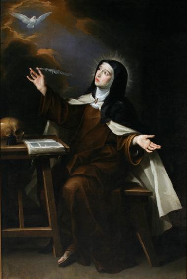 Santa Teresa de Jesús. Vicente Berdusán. Óleo sobre lienzo. 1665. NIG. 00093. © Foto Fernando Alvira. Museo de Huesca.