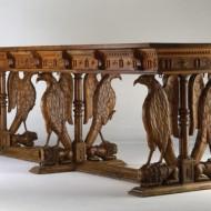 Mesa de las águilas. Cristóbal Pérez. Nogal tallado. 1655. NIG. 00681. © Foto Fernando Alvira. Museo de Huesca.