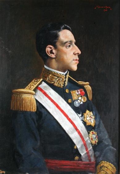 Alfonso XIII. Anselmo Gascón de Gotor. Óleo sobre lienzo. 1908. NIG. 01095. © Foto Fernando Alvira. Museo de Huesca.