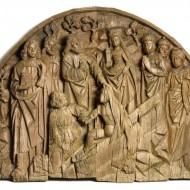 Resurrección de Lázaro. Gil de Brabante. Roble tallado. Ca. 1500. NIG.02510. © Foto Fernando Alvira. Museo de Huesca.