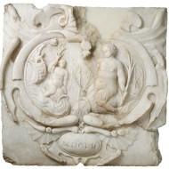 Aguamanil. Anónimo. Alabastro tallado. 1652. NIG. 03628. © Foto Fernando Alvira. Museo de Huesca.