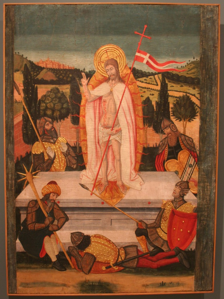 La resurrección. Pedro Grarcía de Benabarre. Temple sobre tabla. Ca. 1445 - 1485. NIG. 11401. @Foto Museo de Huesca.