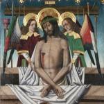 Jesucristo varón de dolores. Martín Bernat. Temple sobre tabla. 1475-1490.NIG. 00020. © Foto Fernando Alvira. Museo de Huesca.