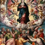 La Asunción de la Virgen. Diego González de San Martín. Óleo sobre tabla. 1551-1600. NIG. 00023. © Foto Fernando Alvira. Museo de Huesca.