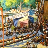 La Feria. Ramón Acín. Óleo sobre lienzo .1927. NIG. 04307. © Foto Fernando Alvira. Museo de Huesca.