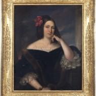 Marquesa de Malpica. Valentín Carderera. Óleo sobre lienzo. 1837. NIG. 10145. © Foto Fernando Alvira. Museo de Huesca.