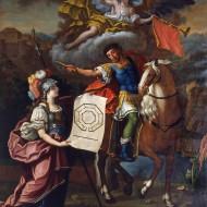 Minerva y Sertorio. Juan Andrés Merklein. Óleo sobre lienzo. 1768. NIG. 03578. © Foto Fernando Alvira. Museo de Huesca.