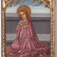 San Juan Evangelista. Juan de la Abadía . Temple sobre tabla. 1490. NIG.11004. © Foto Fernando Alvira. Museo de Huesca.