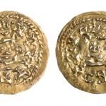 Triente de Witiza. Oro. Visigodo. 702-711. Cueva Foradada (Paúles de Sarsa, Huesca). NIG. 03693. © Foto Fernando Alvira. Museo de Huesca.