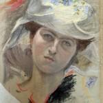 Tocado de mujer ansotana.Félix Lafuente(Fot.J.Garrido.MdZ)