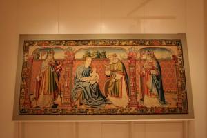 Tapiz de la Virgen, el Niño y San Vicente