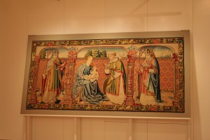Tapiz de la Virgen, el Niño y San Vicente (Fot.MdH)