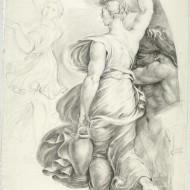 Figura femenina con cántaros de Valentín Carderera (1822-1831)