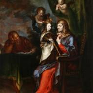 San Joaquín, Santa Ana y la Virgen.Francisco Camilo.Óleo sobre lienzo.1652.NIG.00079.©Foto Fernando Alvira.Museo de Huesca
