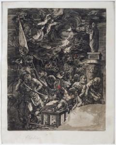 Martirio de San Lorenzo. Gillis Sadeler (c. 1570-1629) Fot. F. Alvira. MdH