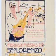 Cartel fiestas Cartel fiestas San Lorenzo 1925. (Fot. F. Alvira. MdH)