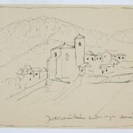 Vista de Ansó. Ramón Acín. 1923 (Fot. F. Alvira. MdH)