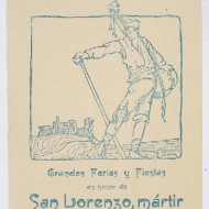 Cartel fiestas San Lorenzo 1917. (Fot. F. Alvira. MdH)