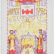 Cartel fiestas San Lorenzo 1924. (Fot. F. Alvira. MdH)