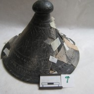 Tapadera decorada proceso restauración (Fot.MdH)