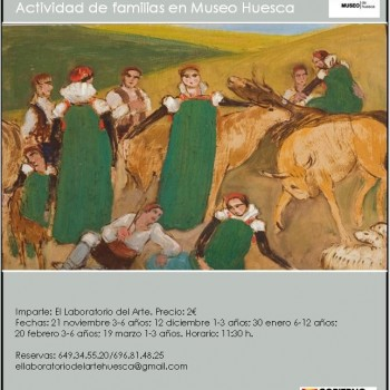 Recreando una ansotana.Didáctica de familias. Museo de Huesca