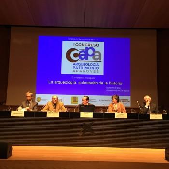 I Congreso Arqueología y Patrimonio Aragonés.(Fot.MdH)