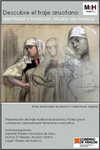 Indumentaria tradicional ansotana en Museo Huesca