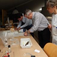 Arqueometría analizando materiales metálicos de La Vispesa(Fot.MdH)