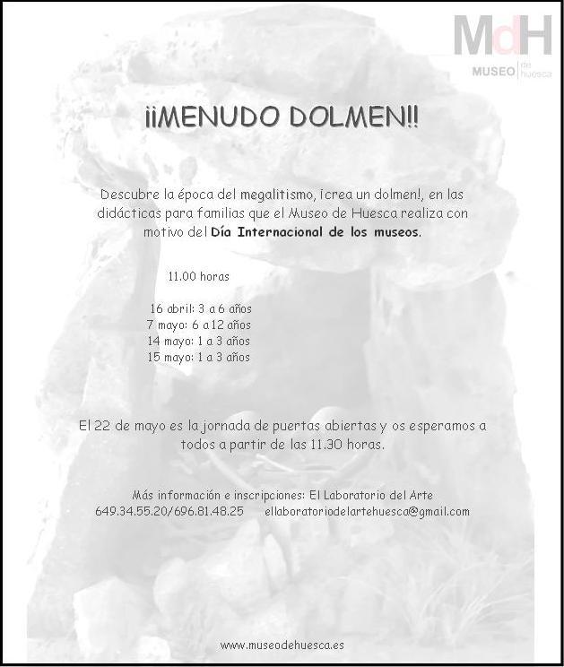Didáctica Menudo Dolmen.DIM.Museo Huesca