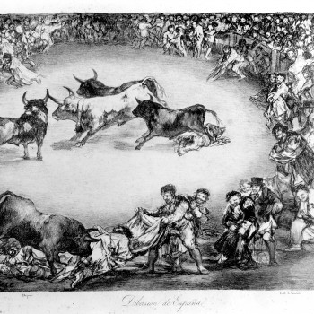 Dibersión de España, Francisco de Goya. NIG. 01093. © Foto Fernando Alvira. Museo de Huesca.