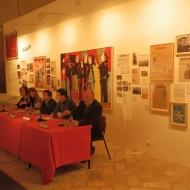 """Presentación de la exposición """"Orwell toma café en Huesca"""". Archivo MdH"""
