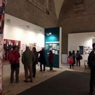 """Visita exposición """"Orwell toma café en Huesca"""". Fot. Archivo MdH"""