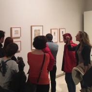 """Visita a la exposición """"Concha Monrás y Ramón Acín"""". Fot. Archivo MdH"""