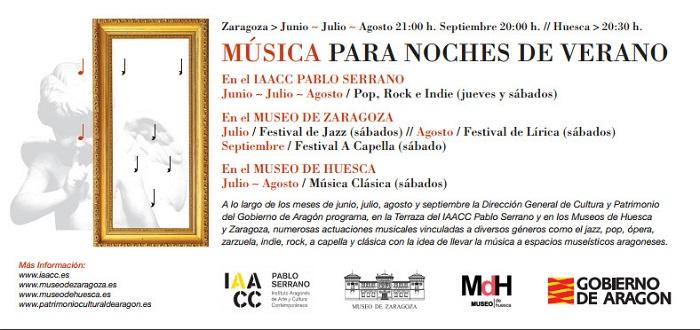 Música para noches de verano en el Museo Provincial de Huesca