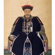 Retrato de caballero, Aguada y tinta sobre seda, China, siglo XVIII, Casa Ric - Archivo del Gobierno de Aragón