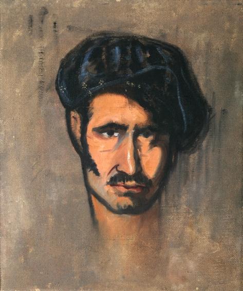 Autorretrato con boina, Ramón Acín Aquilué. NIG 04306. © Fotografía: Archivo Museo de Huesca