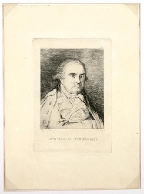 Juan Agustín Ceán Bermúdez. NIG. 03008. © Foto: Fernando Alvira. Museo de Huesca