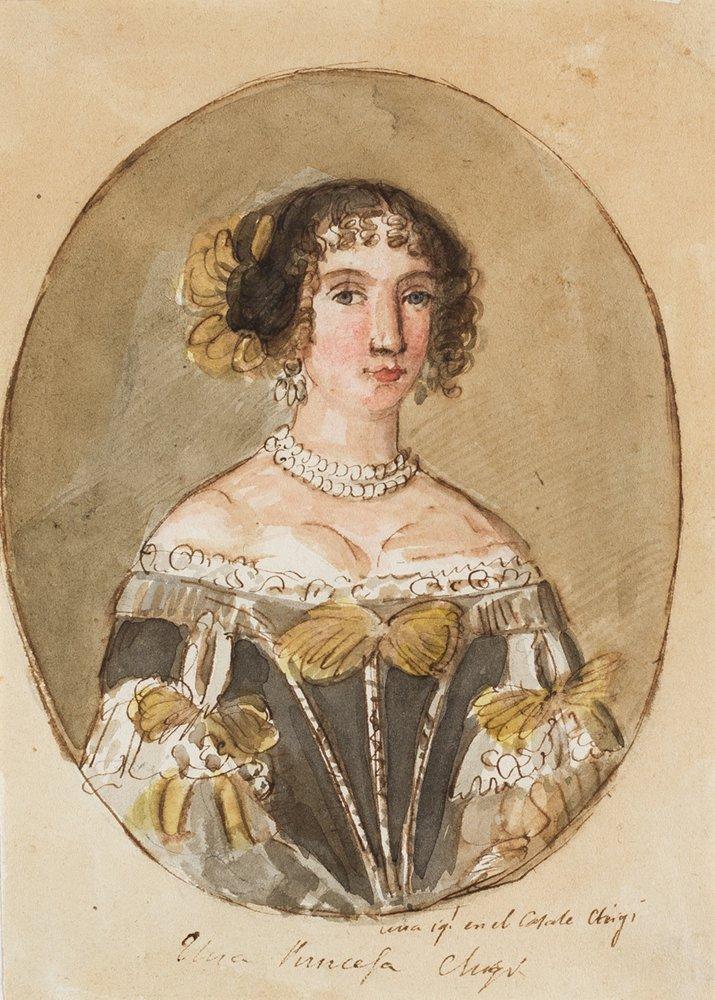 Retrato de Dama Chigui. Valentín Carderera y Solano, ca. 1822-1850. Acuarela sobre papel. NIG 13116. Museo de Huesca.