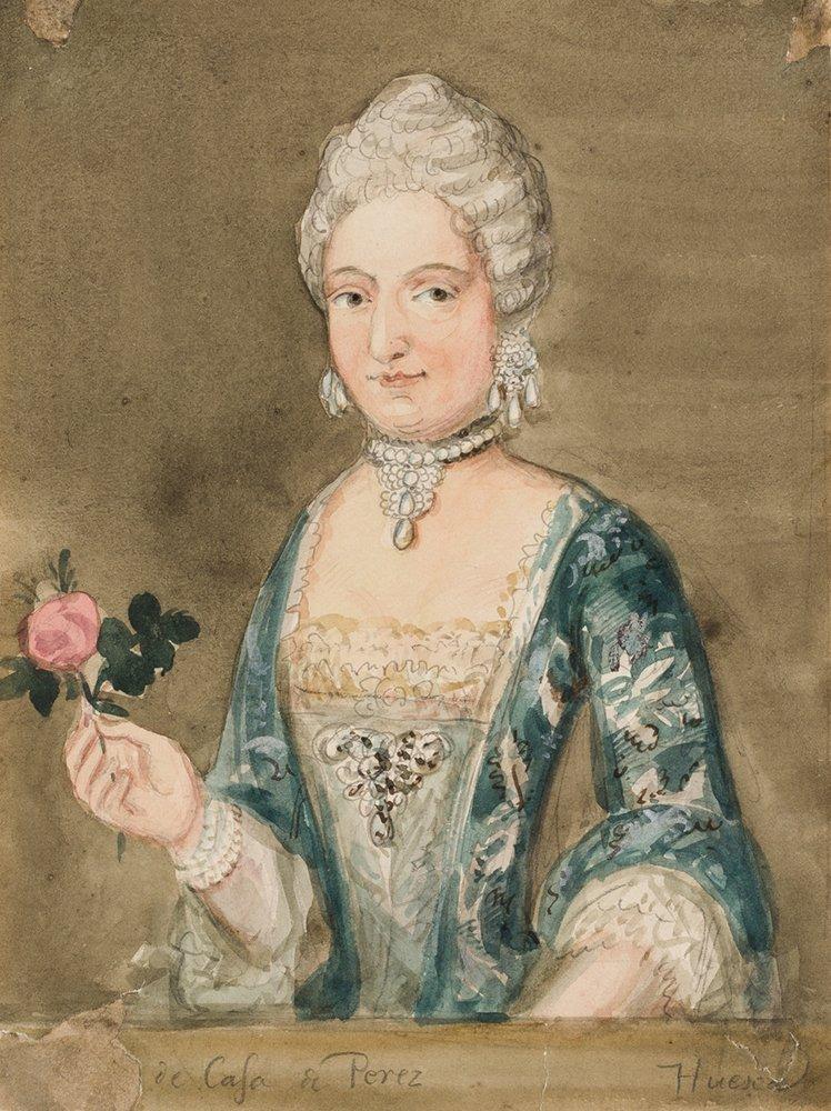 Retrato de dama de la Casa Pérez, Huesca. Valentín Carderera y Solano, ca. 1822-1850. Acuarela sobre papel. NIG 13118. Museo de Huesca.